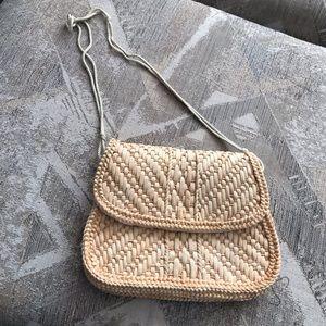 Vintage Straw Woven Shoulder Bag